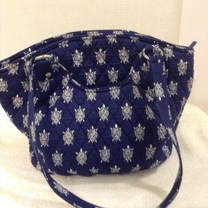 Vera Bradley navy/white purse